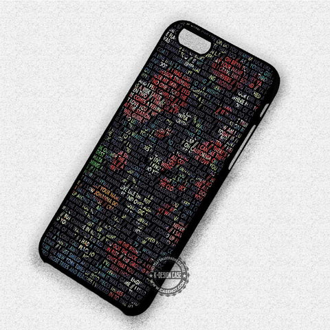 Lyrics Art Vampire - iPhone 7 6 Plus 5c 5s SE Cases & Covers