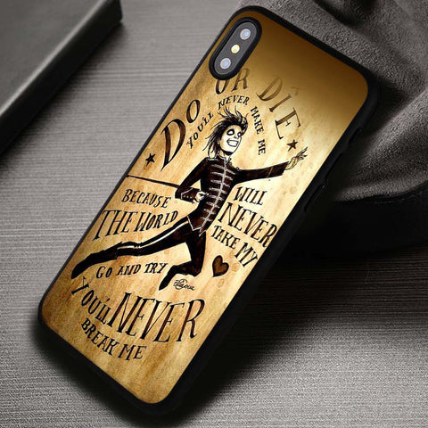 MCR Black Parade, My Chemical Romance, Quote Lyric, One Direction, 5sos - iPhone X Case