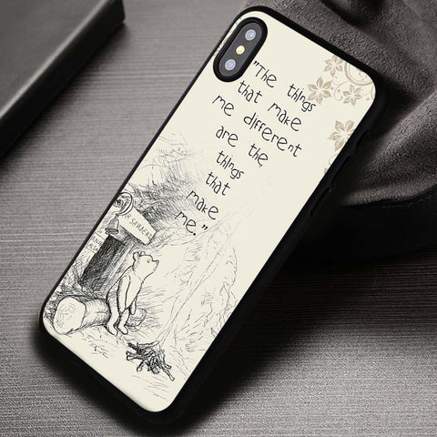 Make Me Different Winnie The Pooh - iPhone X Case