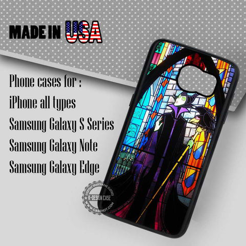 Maleficent Stained Glass - Samsung Galaxy S7 S6 S5 Note 5 Cases & Covers