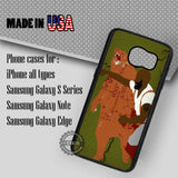 Man Punching Bear - Samsung Galaxy S7 S6 S5 Note 5 Cases & Covers