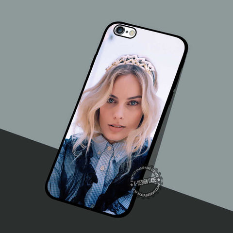 Margot Robbie Blue Eyes - iPhone 6 5 SE Cases & Covers