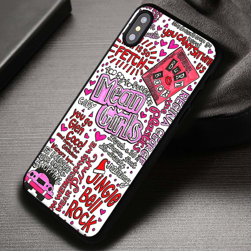 detailed look 66f06 cfdbd Mean Girls Art Collage Quote Disney - iPhone X 8+ 7 6s SE Cases & Covers  #iPhoneX