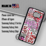 Mean Girls Art Collage - Samsung Galaxy S8 S7 S6 Note 8 Cases & Covers