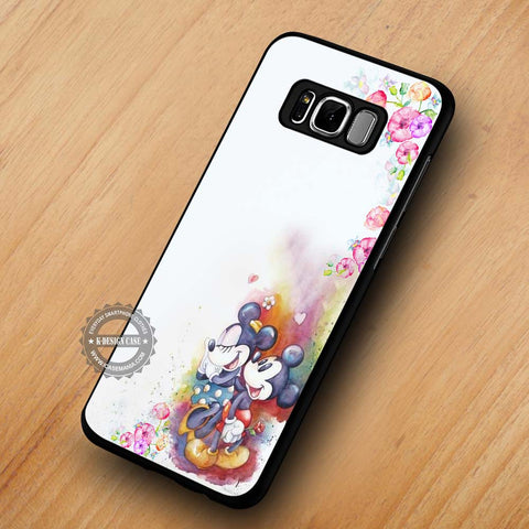 Flower Watercolor Mickey Mouse Minnie Mouse - Samsung Galaxy S8 Case