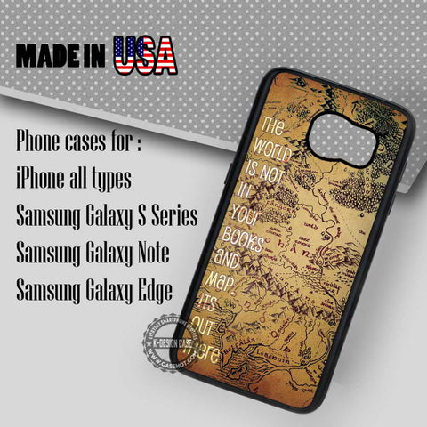 Middle Earth Map - Samsung Galaxy S7 S6 S5 Note 5 Cases & Covers