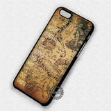 Middle Earth Map - iPhone 7 6 Plus 5c 5s SE Cases & Covers