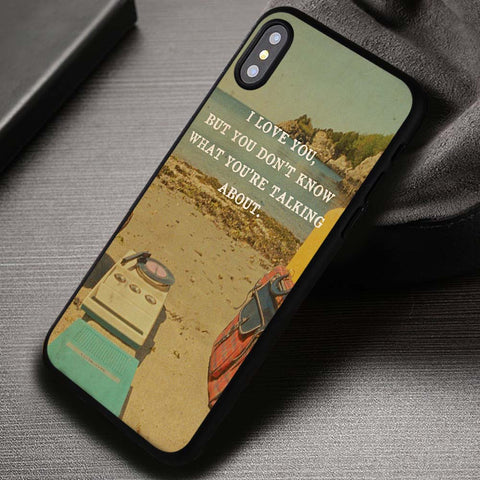 Moonrise Kingdom And Quote - iPhone X Case