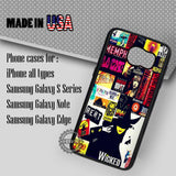 Musical Collage Wicked - Samsung Galaxy S7 S6 S5 Note 5 Cases & Covers