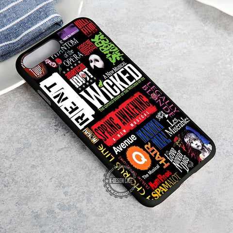 Musical Collage Broadway Wicked Quotes - iPhone X 8+ 7 6s SE Cases & Covers  #iPhoneX
