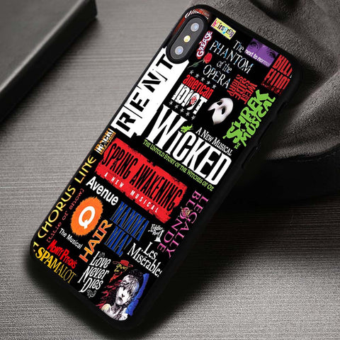 Musical Collage Broadway Wicked Quotes - iPhone X Case