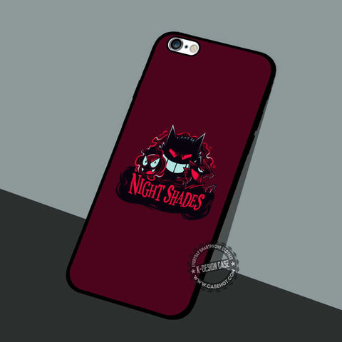 Night Shades Pokemon - iPhone 7 6 5 SE Cases & Covers