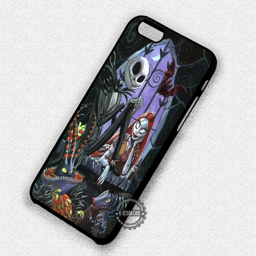 watch 1c3fa 22cb3 Nightmare Before Christmas Jack Skellington Sally - iPhone 7 6 5 SE Cases &  Covers