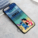 Ohana Lilo and Stitch Quote Disney Cartoon - iPhone 8+ Case