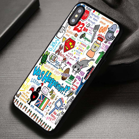 One Direction Carrot Collage 1D Cute - iPhone X Case