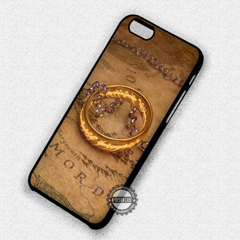 One Ring Map - iPhone 7 6 5 SE Cases & Covers