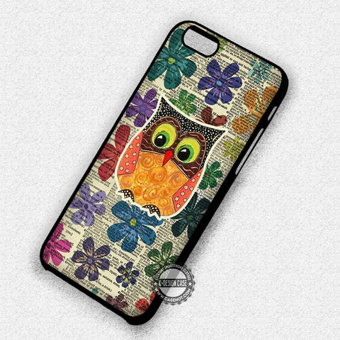Owl Art Flower - iPhone 7 Plus 6S 5 SE Cases & Covers