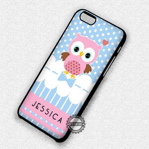 Owl Cute Art Polkadot - iPhone 7 Plus 6S 5 SE Cases & Covers