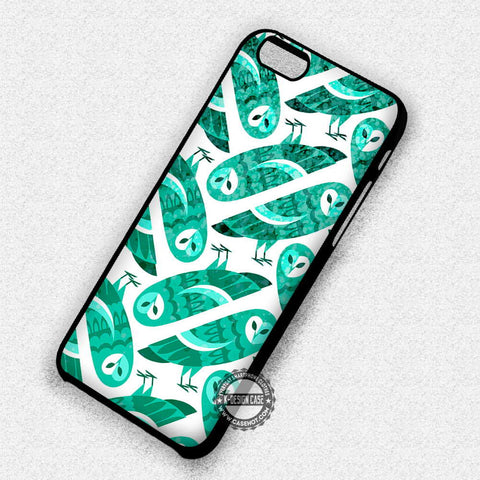 Owl Mint Green - iPhone 7 Plus 6S 5 SE Cases & Covers