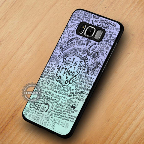 PATD Collage Art Lyric Panic At The Disco - Samsung Galaxy S8 Case