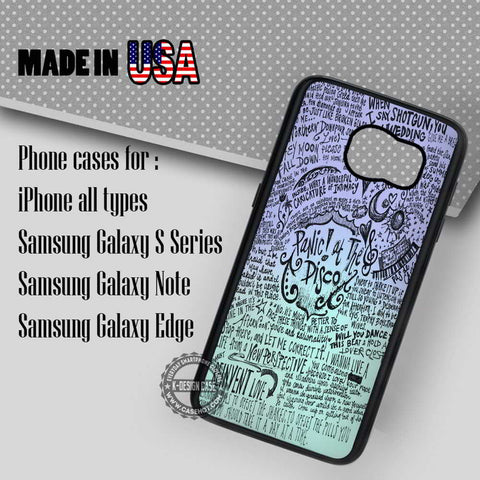 Collage Art Lyric - Samsung Galaxy S7 S6 S5 Note 5 Cases & Covers