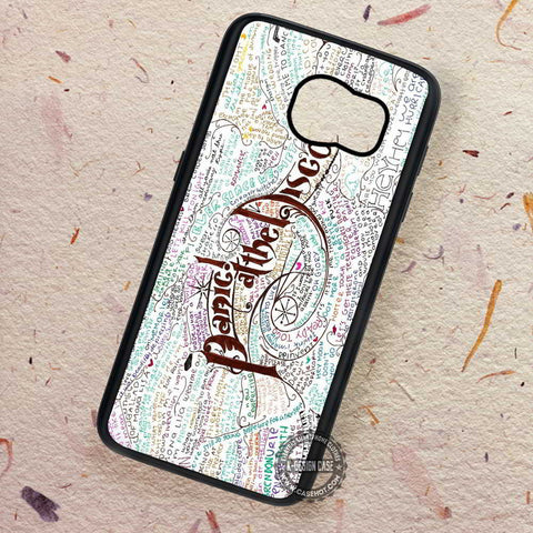 Lyrics Collage Art Panic At The Disco Punk - Samsung Galaxy S8 S7 S6 Note 8 Cases & Covers