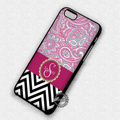 Paisley Monogrammed - iPhone 7 6S 5C SE Cases & Covers