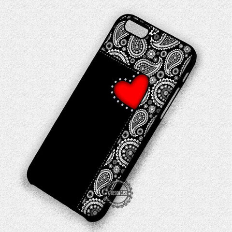 Paisley Red Heart - iPhone 8+ 7 6s SE Cases & Covers