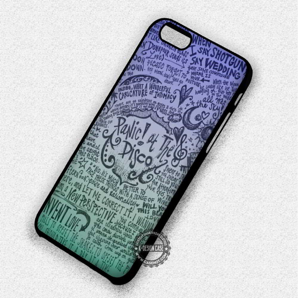 Panic At The Disco Lyric Collage Quotes - iPhone 7 6 5 SE Cases & Covers