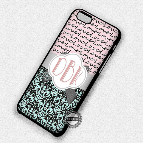 Monogram Damask Love - iPhone 7 Plus 6S 5 SE Cases & Covers