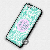 Monogram Damask Mint - iPhone 7 Plus 6S 5 SE Cases & Covers