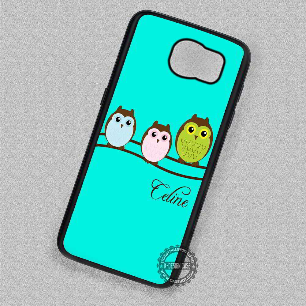 size 40 bb7ac f33fe Owl On A Tree Personalized Monogrammed - Samsung Galaxy S7 S6 S5 Note 5  Cases & Covers