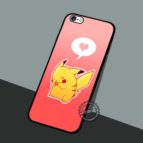 Pikachu Love Heart - iPhone 7 6 5 SE Cases & Covers