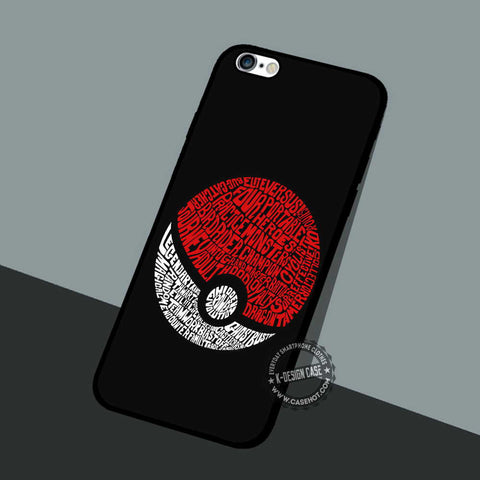Pokeball Pokemon Game - iPhone 7 6 5 SE Cases & Covers