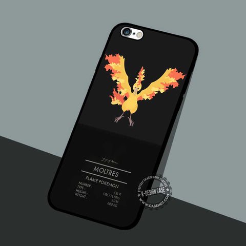 Moltres Flame Pokemon - iPhone 7 6 5 SE Cases & Covers
