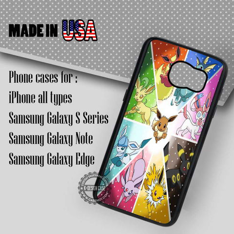 Pokemon X Y Eevee - Samsung Galaxy S7 S6 S5 Note 5 Cases & Covers