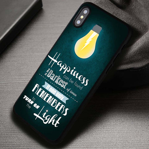 Remember To Turn On The Light - iPhone X Case