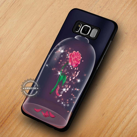 Rose in the Glass Beauty and The Beast - Samsung Galaxy S8 Case