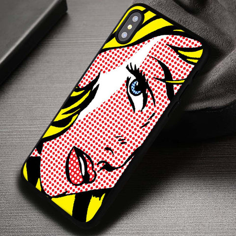 Roy Lichtenstein Vintage Comics Marvel DC - iPhone X Case