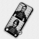 Sam and Dean Mug Shot - iPhone 7 6 Plus 5c 5s SE Cases & Covers