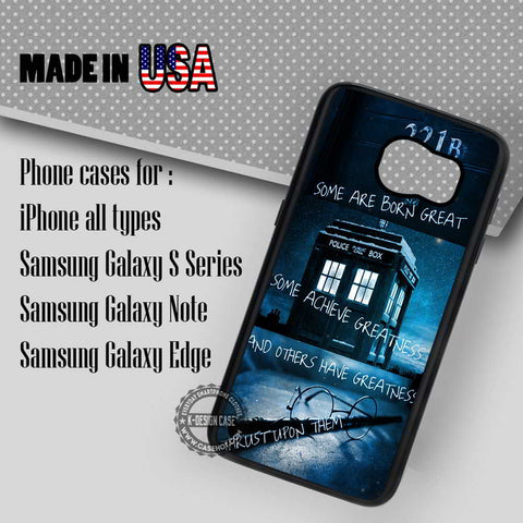 Sherlock Tardis Doctor Who - Samsung Galaxy S7 S6 S5 Note 5 Cases & Covers