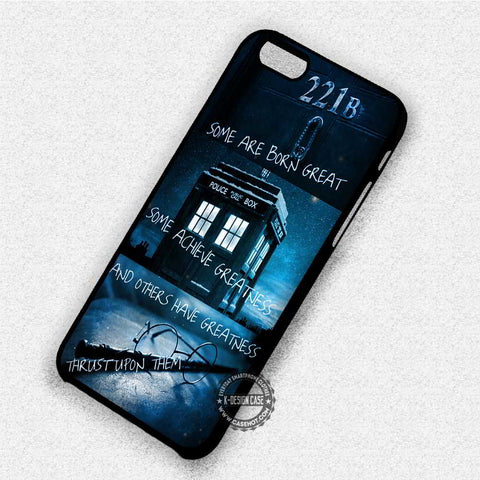 Sherlock Tardis Doctor - iPhone 8+ 7 6s SE Cases & Covers