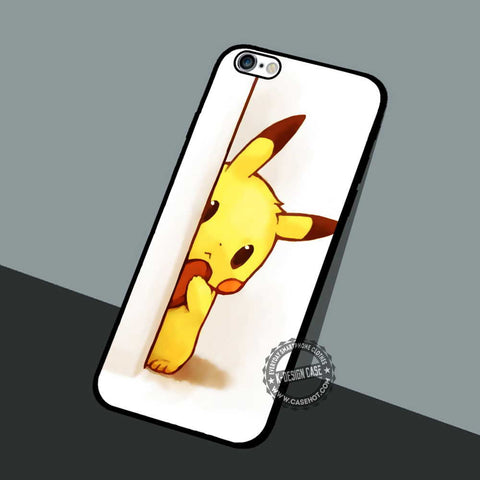 Shy Pikachu Pokeball - iPhone 7 6 5 SE Cases & Covers