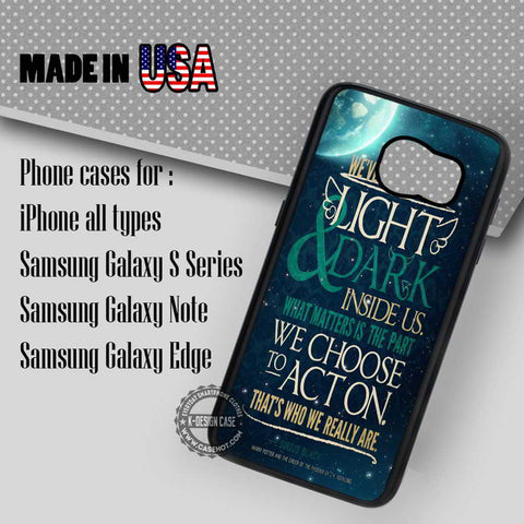 Sirius Quote Black - Samsung Galaxy S7 S6 S5 Note 5 Cases & Covers