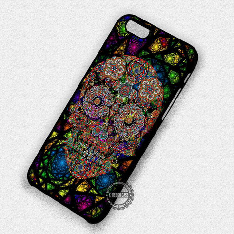 Skull Stained Glass - iPhone 7 6 Plus 5c 5s SE Cases & Covers