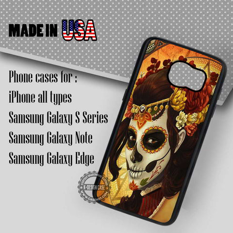 Skull Sugar Flower - Samsung Galaxy S7 S6 S5 Note 5 Cases & Covers