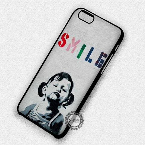 Smile Girl Banksy - iPhone 7 6 Plus 5c 5s SE Cases & Covers