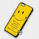 Smiley Quote Emoticon - iPhone 7 6 Plus 5c 5s SE Cases & Covers
