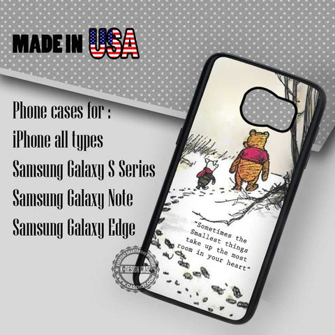 Sometimes Winnie The Pooh Quote - Samsung Galaxy S8 S7 S6 Note 8 Cases & Covers