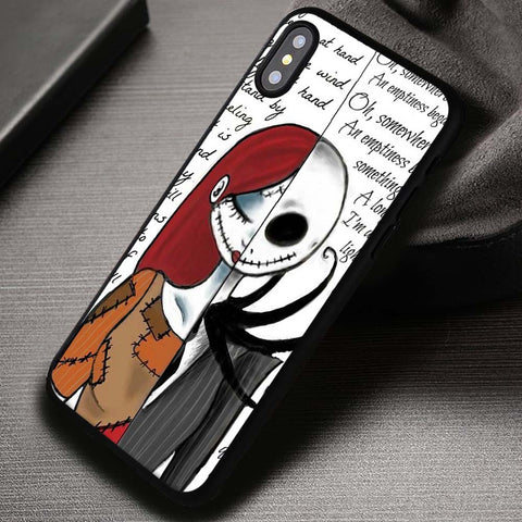 Soulmate Jack And Sally Nightmare Before Christmas - iPhone X Case